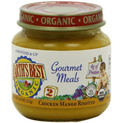 Earth's Best Organic 2nd Gourmet Meals, Chicken Mango Risotto, 4 Ounce Jars (Pack of 12)