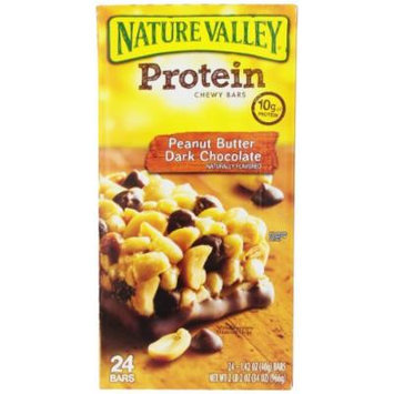 Nature Valley Protein Bars, Peanut Butter Dark Chocolate, 1.42 Ounce, 24 Count