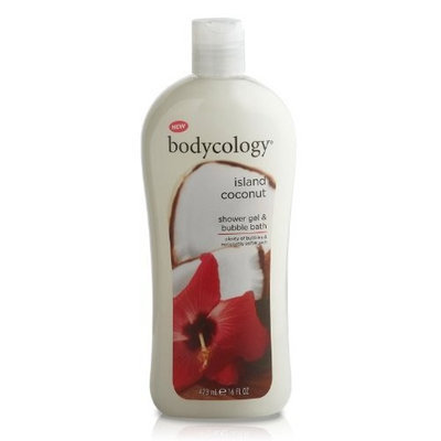Bodycology Shower Gel and Bubble Bath, Island Coconut, 16-Fluid Ounce (Pack of 2)