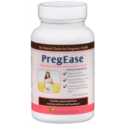 Fairhaven Health PregEase Morning Sickness & Heartburn Relief, Chewable Tablets, 60 ea