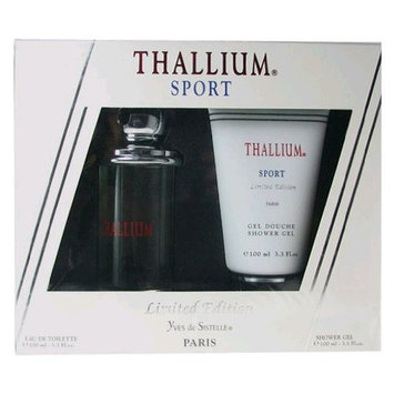 Yves de Sistelle Thallium Sport Fragrance Set for Men: EDT Spray 3.3 Ounce & Shower Gel 3.3 Ounce