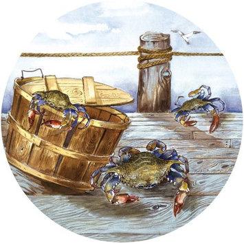 Thirstystone TSAP6 Natural Sandstone Coaster Set Blue Crabs on Pier