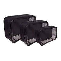 SHANY 3 Piece Assorted Size Cosmetics See Through Make Up Bag/Organizer