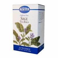 Alvita Caffeine Free Tea Sage 24 Tea Bags Case of 6