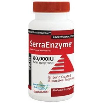 Good Health Naturally Serra Enzyme 80,000IU Serrapeptase (90 Quad-Strength Tablets)
