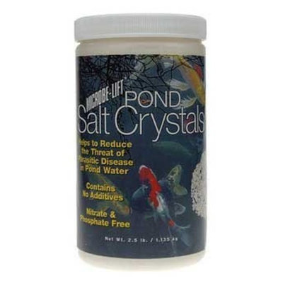 Ecological Labs AEL20356 Microbe Lift Pond Salt Crystals Pond Conditioners for Aquarium, 2.5-Pound
