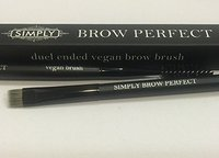 Brow Brush - A Perfect Natural Vegan Duel Ended and Purposed Brush - Ideal for Mineral Makeup Application