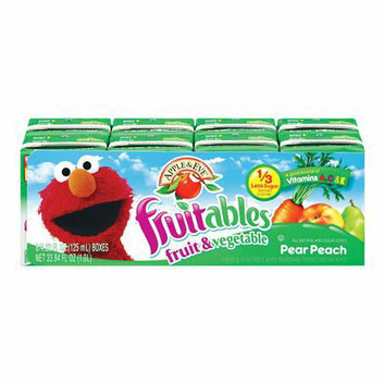Apple & Eve Fruitables Pear Peach Fruit & Vegetable Juice Box 8 pk
