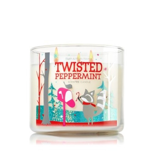 Bath & Body Works Bath Body Works Twisted Peppermint 3-Wick Scented Candle