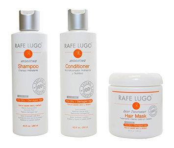 Rafe Lugo Damaged Hair Repair Treatment 3 Piece Kit Includes: 8.5 oz Shampoo + 8.5 oz Conditioner + 8.5 oz Mask