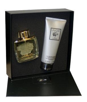 Lalique By Lalique For Men. Gift Set ( Eau De Parfum Spray 2.5 Oz + Shower Gel 6.6 Oz ).