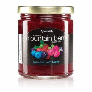 XyloBurst - Mountainberry Fruit Jam XyloBurst, Xylitol, 10 oz Glass Jar