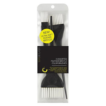 ColorTrak Assorted Size Feather Bristle Hair Color Brushes