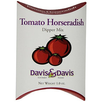 Davis & Davis Gourmet Foods Tomato Horseradish Dipper Mix, 1.0-Ounce Boxes (Pack of 12)