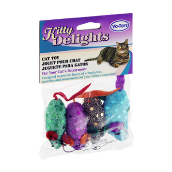 Vo-Toys Kitty Delights Four Mice Cat Toy