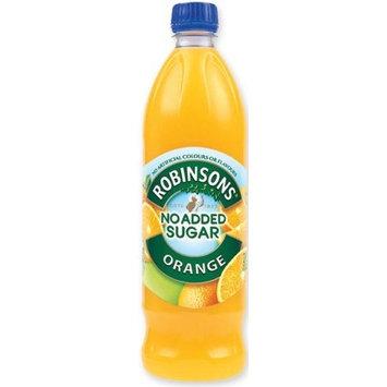 Robinsons Robinson's Orange Fruit Drink, No Added Sugar, 1-Liter Plastic Bottle (Pack of 6)
