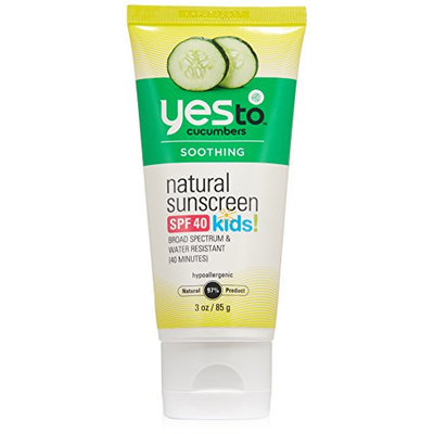 Yes To Cucumbers Natural Sunscreen SPF 40 for Kids
