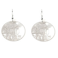 Chicago Earrings - Urban Gridded Jewelry Collection by Aminimal