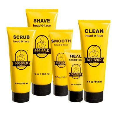 Bee Bald 5 Piece Daily Skin Care Regimen Kit