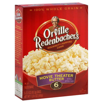 Orville Redenbacher's Popping Corn, Gourmet, Movie Theater Butter, 6 - 3.3 oz (93.3 g) bags [1 lb 4 oz (560 g)]