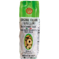 La Piana Original Italian Tarallini With Fennel Seeds, 8.8-Ounce Bags (Pack of 4)