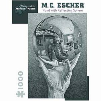 MC Escher Hand with Reflecting Sphere Puzzle 1000 pcs  Ages 12 and up