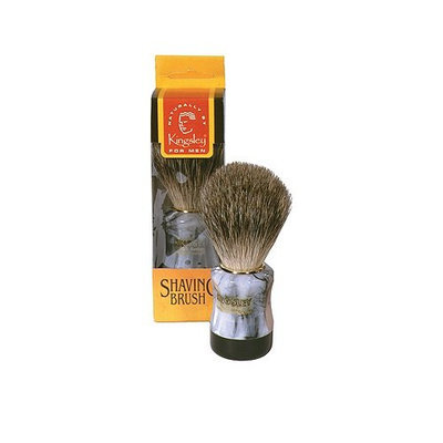 Harry D Koenig & Co Badger Bristle Shave Brush with Marbleized Handle for Men