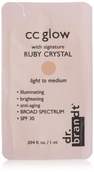 Dr. Brandt® CC Glow with Signature Ruby Crystal Light to Medium
