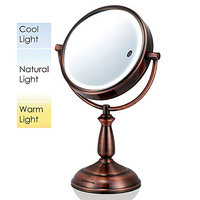 Ovente MPT85CO Multi Touch Tabletop Makeup Mirror with 3 Tone LED Light Option