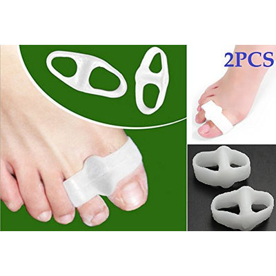 Cerkos Gel Toe Separators Straightener Bunion Protector Corrector for Improving Foot Strength and Balance (2 pcs)