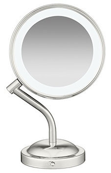 Conair Nickel Finish Lighted Makeup Mirror