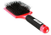 HSI Professional Velvet Touch Paddle Soft Brush for Wet and Dry Hair with Super Soft Flexible Ionic Bristles