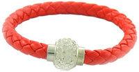 Linda Fashion Jewelry Leather Bracelet Stainless Steel Clasp