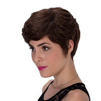 Probeauty Deep Ombre Natural Wavy Short Synthetic Hair Women Ladies Daily Use Replacement Wig