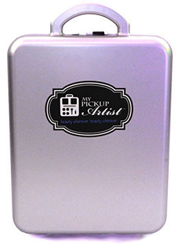 My Pick Up Artist Classic Case - Compact Portable Beauty & Make-Up Organizer for Travel - Holds Up to 30 Pieces - Starlight Silver