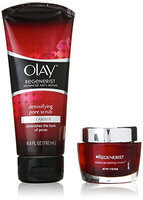 Olay Regenerist Micro Sculpting Cream And Detoxifying Pore Scrub Duo Pack