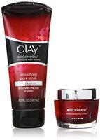 Olay Regenerist Micro Sculpting Cream And Detoxifying Pore Scrub Duo Pack
