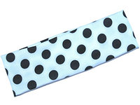 Black with White Polka Dot Headband
