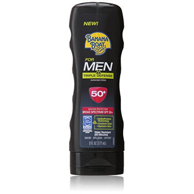 Banana Boat Sunscreen for Men Triple Defense Broad Spectrum Sun Care Sunscreen Lotion - SPF 50