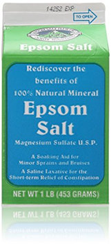 White Mountain Epsom Salt Container