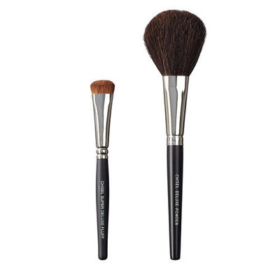 VEGAN LOVE The Chisel Collection Make Up Brush Set (Super Deluxe Fluff Chisel Deluxe Powder)