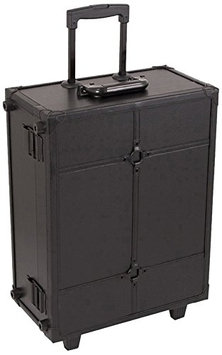 Craft Accents Leather Professional Rolling Makeup Studio Case