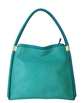 Diophy Womens Fashion Faux Leather Top Zipper Shoulder Bag Handbag OS-2986 Green