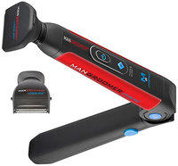 MANGROOMER Lithium Max Back Shaver with 2 Shock Absorber Flex Heads