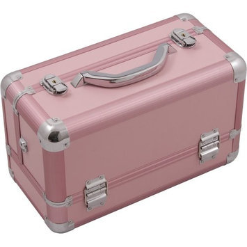 Hiker 3-Tier Extendable Trays Pro Cosmetic Makeup Case with Brush Holder