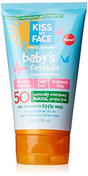 Kiss My Face Baby's First Kiss Mineral Lotion Sunscreen SPF 50