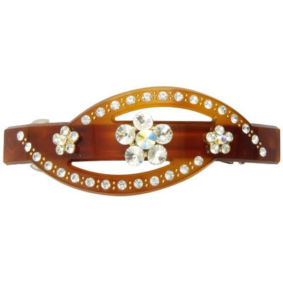 Caravan 3 Stoned Buttons On Tortoise Shell Hump Barrette