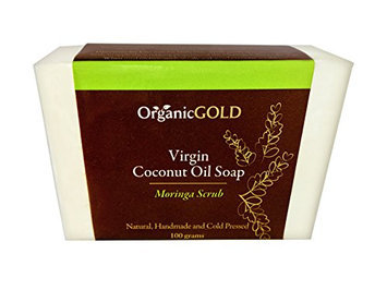 Organic Virgin Coconut Oil Soap and Body Scrub with Real MORINGA LEAVES Is the Best Natural Exfoliant and Cleanser for Face and Body - Handmade