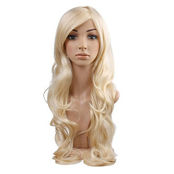 Blonde Long Curly Wigs - Natural