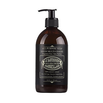 LSM Soaps Le Savonnier Marseillais All-Purpose Fragrance-Free Liquid Counter Top Soap